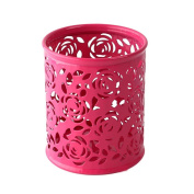 LEERYA Makeup Brush Vase Roses Brush pot Pen Holder Stationery Storage