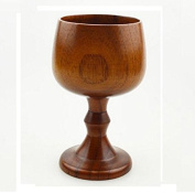 ASIBT Hand-made Jujube Wooden Wine Goblet Water Cup 210ml