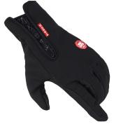 Smile YKK Unisex Winter Outdoor Cycling Glove Waterproof Non-slip Zipper Gloves