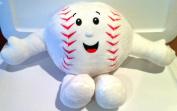Unstuffed Baseball Pillow White Plush Build Stuff Your Own Plush Ball New