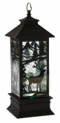 Rustic Deer Forest LED Light-up 30cm Metal Christmas Table Top Lantern