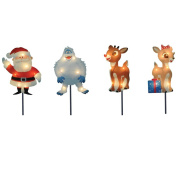 ProductWorks 20cm Pre-Lit Rudolph the Red-Nosed Reindeer Pre-Lit Christmas Pathway Markers