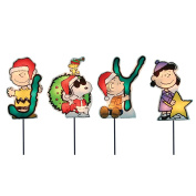 ProductWorks 20cm Pre-Lit Peanuts Joy Christmas Pathway Markers