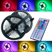 Magic BEAM Led Strip Lighting Full Kit 10-Metre 10m 5050 RGB 300 Leds Flexible Colour Changing LED Light Strips with Power Supply + 44-Key IR Remote Controller
