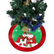 Ohuhu 90cm Santa and Reindeer Christmas Tree Skirt