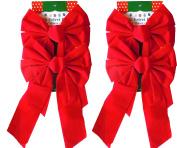 Red Velvet Christmas Bow 23cm X 41cm 4 Pack of Holiday Bows