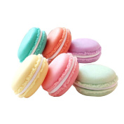 QTMY 6 PCS Colourful Mini Macaron Shape Storage Box Candy Jewellery Organiser Pill Case Container
