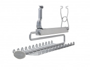 ClosetMaid 78060 Sliding Tie & Belt Rack for Wire Shelving, Satin Chrome
