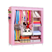 NEX Wardrobe DIY Clothes Storge Cabinet Portable Tool Organiser Bedroom Closet Doll Collection