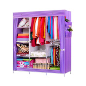 NEX Wardrobe DIY Clothes Storage Cabinet Portable Tool Organiser Bedroom Closet Doll Collection