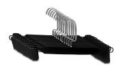 Decor Hut Skirt/pants Sturdy Plastic Hangers with Swivel Hook, Black Colour