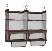 StorageManiac Luggage Compression Shelves, Portable Hanging Shelves with Zippered, Pack of 2
