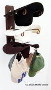 American Made Cowboy Hat Holder Rust with Gold Stars