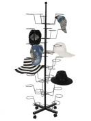 Homdox 7 Tier 35 Hat Cap Display Hat Rack Rotating Adjustable Metal Floor Stand