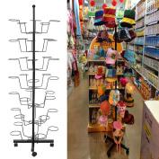 Amdirect Rotating Adjustable Black Metal Floor Stand 35 Hat 7 Tier Cap Display Retail Hat Rack
