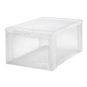 Iris Usa 102305 Clear Drop Front Shoe Box, Large