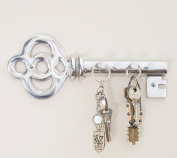 Decorative Wall Mounted Key Holder - Multiple Key Hooks Rack - Hand Cast Aluminium - Modern Theme - Polished Finish - with Screws and Anchors - By Comfify
