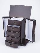 Saganizer Cherry Wooden Jewellery Box Organiser