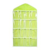 LUOEM Over Door Hanging Bag Hanging Storage Pocket for Shoe Rack Hanger Toy Books Bra Tidy Organiser Green