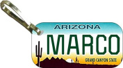 Personalised Arizona Cactus Zipper Pull State Licence Plate Replica