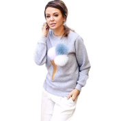 Sunfei Autumn Ladies Women Sweatshirt Plush Ball Long Sleeve Pullovers