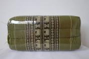 Thai Rectangle Traditional Fabric Pillow Cushion Green