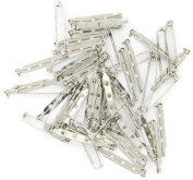 Taloyer 50pcs Brooch Back Safety Catch Bar Pins 38mm