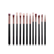 AMarkUp Eye Shadow Makeup Brushes Set 12 Piece Synthetic Hair Eyebrow Cosmetic Kits Tools