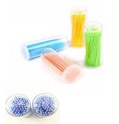Fireboomoon(1x Box)Eyelash Extension Lint Free Microbrush,Colour Random