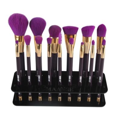 DEESEE(TM) Makeup Brush 15 Hole Square Makeup Brush Holder Drying Rack Organiser Cosmetic Shelf Tool