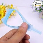 3 PCS Women 3 In 1 Make Up Eye Mascara Eyelash Comb Applicator Guide Card Tool