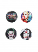 DC Comics Suicide Squad Logo & Characters Pin Set