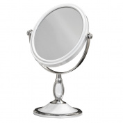 Large Tabletop Two-sided Swivel Vanity Makeup Mirror with 2x Magnification