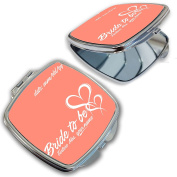 BleuReign(TM) Personalised Custom Name and Date Bride to Be Compact Mirror
