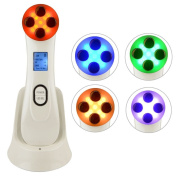 LED 5 Colours Lightening Skin Photo-rejuvenation Micro Vibration Anti Ageing Photon Therapy Ionic Beauty Skin Care Face Massager