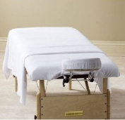 GHP Pack of 3 Jumbo White 66x104 Muslin Massage Table Cover Sheet