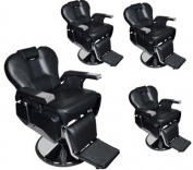 TMS® 4 x All Purpose Hydraulic Recline Barber Chairs Salon Beauty Spa Shampoo Equipment