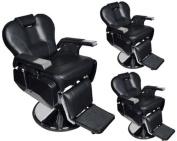 TMS® 3 x All Purpose Hydraulic Recline Barber Chairs Salon Beauty Spa Shampoo Equipment