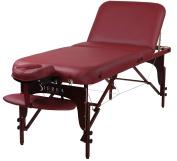 Sierra Comfort Premium Adjustable Backrest Portable Massage Table, Burgundy