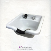 White Square CERAMIC Wall Mounted Beauty Salon Shampoo Bowl Plumbing Parts Kit Included TLC-W41W