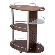 USA Salon and Spa Redy Oval Wooden Beauty Trolley USA-1033