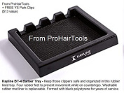 """Kayline """"NEW"""" BT-4 Barber Tray, Salon Clipper Organiser + Free YS Park L-Clips ($13 value) from ProHairTools"""
