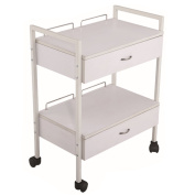 White Laminated Multi-function Rollabout Storage Cart