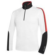 Rh+ Planar Mens Mid Layer - Medium/White-Black-Red