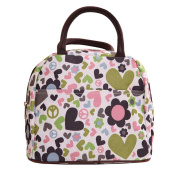 Wowlife Pink Love Heart Lunch Bag Tote Bag Lunch Organiser Lunch Holder Lunch Container Reusable Lunch Bags