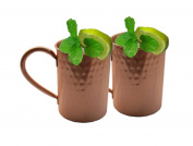 STREET CRAFT Drinkware Accessories Hammered Copper Moscow Mule Mug 470ml Brown Set Of 2