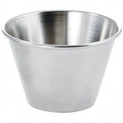 Winco SCP-40, 120ml Stainless Steel Round Ramekin Condiment Sauce Cups, 1 Dozen Pack
