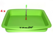 TitanOwl Silicone Deep Dish Tray Container Aprox 20cm x 20cm + Carving Scrape Tool