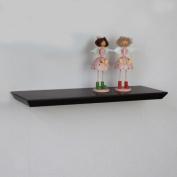 Naiture 18 x 20cm x 3.2cm Diagonal Edge Floating Wall Shelf, Espresso