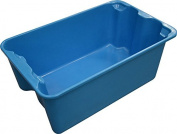 MFG Tray 7804085268 Toteline Nest and Stack Container, Glass Fibre Reinforce Plastic Composite, Capacity 140kg., 50cm x 33cm x 20cm , Blue
